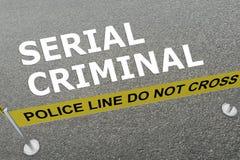 Serial Criminal concept Stock Image