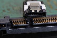 Serial EN el accesorio SATA, Serial ATA imagen de archivo libre de regalías