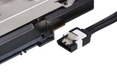 Serial EN el accesorio SATA, Serial ATA imagen de archivo