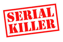 SERIAL KILLER Rubber Stamp Royalty Free Stock Image