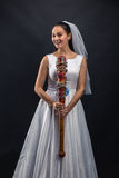 Serial murederer in wedding dress Royalty Free Stock Photography