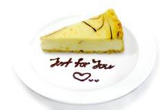 Serie 01 della torta di formaggio Fotografia Stock