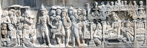 Serie 02 del templo de Borobudur Imagenes de archivo