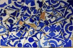 Serie 11, Guell Parc delle mattonelle Fotografia Stock