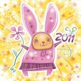Serie 2 de la tarjeta del conejo Imagen de archivo