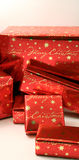 Serie 2 de los regalos de Navidad - Boxes4 envuelto Fotos de archivo