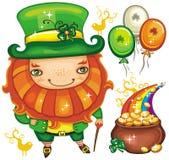 Serie 2 del leprechaun del día del St. Patrick Foto de archivo libre de regalías