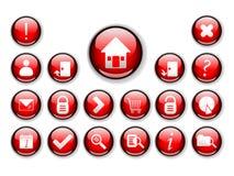 Serie #2 - iconos del botón del icono del Web Fotos de archivo libres de regalías