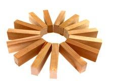 Serie 7 del bloque de madera Foto de archivo