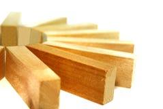 Serie 7 del bloque de madera Fotografía de archivo libre de regalías
