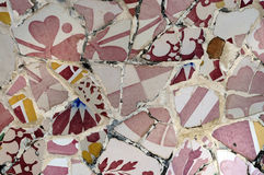 Serie 7, Guell Parc del azulejo Imagen de archivo libre de regalías