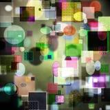 Serie abstracto del arte del cubismo Fotos de archivo libres de regalías