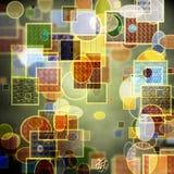 Serie abstracto del bokeh del modelo con texturas Imágenes de archivo libres de regalías