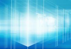 Serie alta tecnologia astratta di concetto dello spazio 3d Immagini Stock