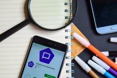 Serie App di accessibilità di Android sullo schermo di Smartphone fotografia stock