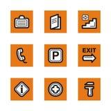 Serie arancione dell'icona illustrazione vettoriale