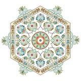Serie artística una del modelo del otomano stock de ilustración