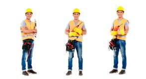 Serie asiatica di occupazione dell'uomo della costruzione Immagini Stock Libere da Diritti