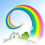 Serie astratta Home- dolce domestica della matita del Rainbow Fotografie Stock Libere da Diritti