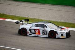 Serie Audi R8 LMS de Blancpain GT que compite con en Monza Imagen de archivo