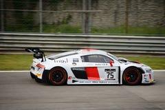 Serie Audi R8 LMS de Blancpain GT que compite con en Monza Imagen de archivo libre de regalías