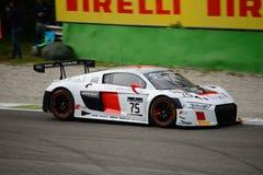 Serie Audi R8 LMS de Blancpain GT que compite con en Monza Imagenes de archivo