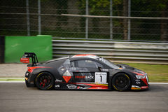 Serie Audi R8 LMS di Blancpain GT che corre a Monza Fotografia Stock Libera da Diritti