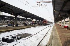 Serie auf Station Stockbilder