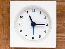 Serie av följden av tid på den enkla vita parallella klockan Royaltyfria Bilder
