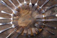 Serie av gafflar Royaltyfri Fotografi