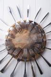 Serie av gafflar Royaltyfri Bild