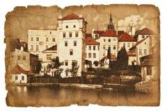 Serie av illustrationer på det gamla papperet. Arkivfoton