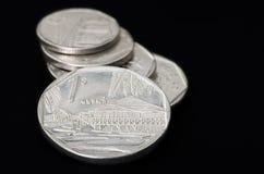 Serie av kubanska mynt Arkivbilder