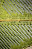 Serie av photovoltaic paneler Arkivbild