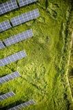Serie av photovoltaic paneler Royaltyfri Foto