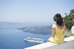 Serie av Santorini Grekland Arkivfoton