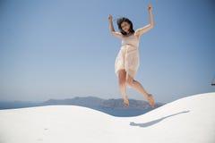 Serie av Santorini Grekland Fotografering för Bildbyråer