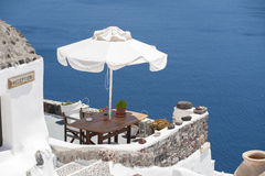 Serie av Santorini Grekland Arkivfoto