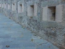 Serie av slitsar av en forntida slott Royaltyfria Bilder