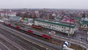 Serie am Bahnhof stock video footage