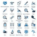 Serie blu dei rifornimenti & dell'attrezzatura medica - insieme 1 Fotografia Stock