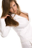 Serie branco puro Fotos de Stock