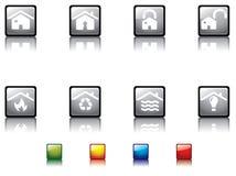 Serie brillante no12 del botón ilustración del vector