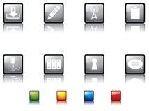 Serie brillante no2 del botón Imagen de archivo