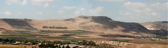 Serie-Claxones de Holyland del panorama de Hattin Imagen de archivo libre de regalías