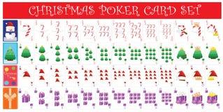 Serie completa della carta della mazza di Natale Immagine Stock