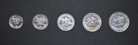 Serie croata del dinero de la moneda de Kuna Imágenes de archivo libres de regalías