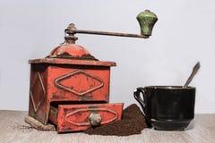Serie d'annata II della macchina del caffè fotografia stock libera da diritti