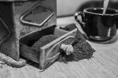 Serie d'annata IV della macchina del caffè immagini stock libere da diritti