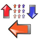 Serie de 11 botones brillantes y de icono de la alta calidad Stock de ilustración